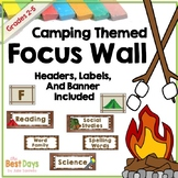 Focus Wall Headers:  Camping Theme   {Other Themes Availab