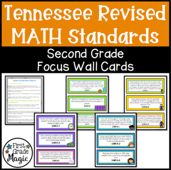 Focus Wall Cards - New Tennessee State Standards Math 2nd Grade