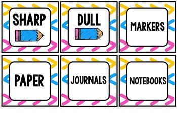 Focus Wall & Classroom Labels {brights}