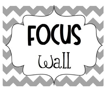 Focus Wall Common Core Chevron