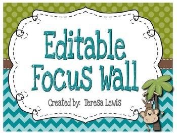 Focus Wall:  Common Core Standards 4th Grade Monkey Theme