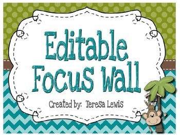 Focus Wall:  Common Core Standards 4th Grade Monkey Theme