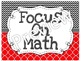 Focus Wall Customizable Black and Red 5th Grade Math CCSS