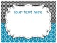 Focus Wall Customizable Blue and Black