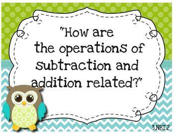 Focus Wall Customizable Owl Theme 3rd Grade ELA and Math CCSS
