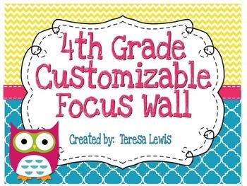 Focus Wall Customizable Owl Theme 4th Grade CCSS