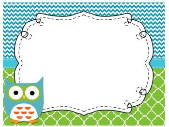 Focus Wall Customizable Owl Theme 5th Grade CCSS