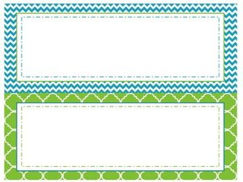 Focus Wall Customizable Turquoise and Green 5th Grade Math CCSS
