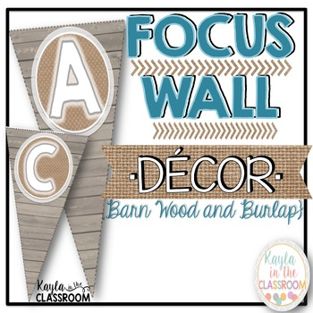 Focus Wall Decor [Barn Wood & Burlap]