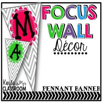 Focus Wall Decor (Pennant Banner) Chevron Brights