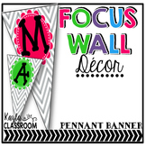 Focus Wall Decor (Pennant Banner) Chevron Brights