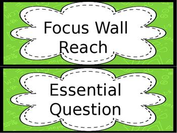 Focus Wall- ESL/ENL