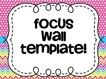 Focus Wall (Editable)