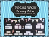 Focus Wall- Editable, Bright Class Decor- Display Standards