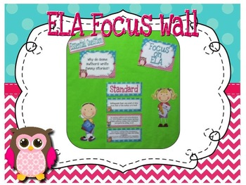 Focus Wall Customizable Turquoise and Pink Owl Theme