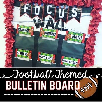 Focus Wall Football Theme Bulletin Board Set