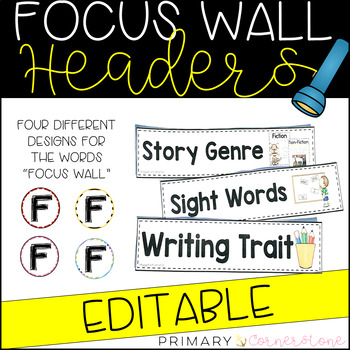 EDITABLE Focus Wall Headers