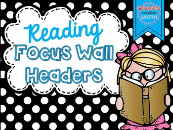 Focus Wall Headers Chalkboard/ Polka Dot Theme