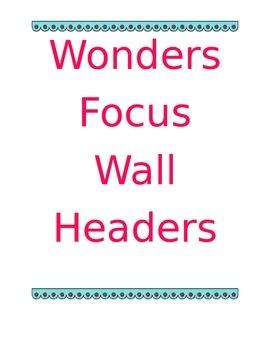Focus Wall Headers - In Color
