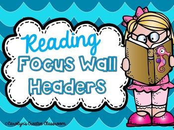 Focus Wall Headers- Ocean Theme (Use with Wonders, Reading Street, etc)