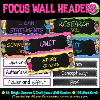 Focus Wall Headers - Reading Street