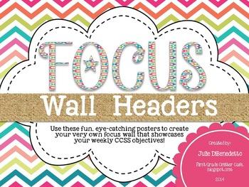Focus Wall Headers: Summer Craze Edition
