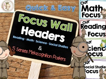 Focus Wall Headers for K & 1 (Quick, Easy & Printable)