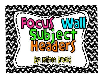 Focus Wall Headers (mini pack) FREEBIE!
