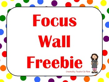 Focus Wall Headings