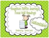 Focus Wall Headings:  Houghton Mifflin Journeys Grade 3