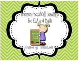 Focus Wall Headings for ELA and Math Chevron Background