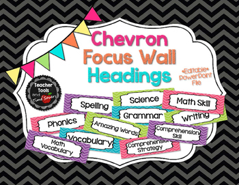 Focus Wall Headings in Chevrons - EDITABLE!