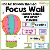 Focus Wall Headers: Hot Air Balloons