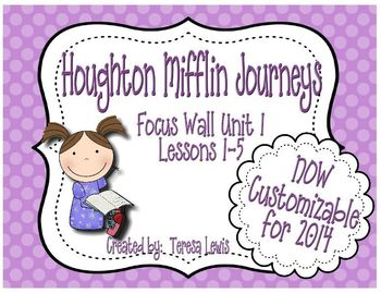 Houghton mifflin journeys teaching resources teachers pay teachers focus wall houghton mifflin journeys unit 1 lessons 1 5 grade 3 fandeluxe Images