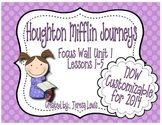 Focus Wall:  Houghton Mifflin Journeys Unit 1 Lessons 1-5 Grade 3