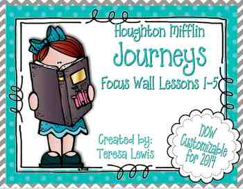 Focus Wall:  Houghton Mifflin Journeys Unit 1 Lessons 1-5 Grade 3 Chevron