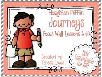 Focus Wall:  Houghton Mifflin Journeys Unit 2 Lessons 6-10 Grade 3 Chevron