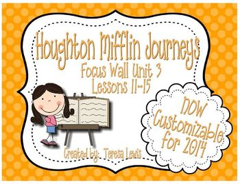 Focus Wall:  Houghton Mifflin Journeys Unit 3 Lessons 11-15 Grade 3