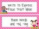 Focus Wall: Houghton Mifflin Journeys Unit 5 Lessons 21-25 Grade 3