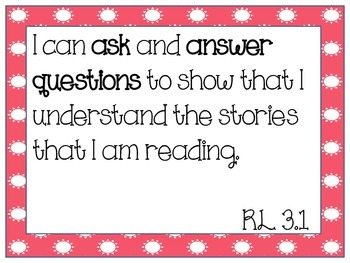 """Focus Wall """"I Can"""" Statements: Reading"""