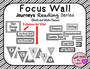 Focus Wall Journeys Reading Series ( Black and White Theme)