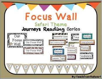 Focus Wall Journeys Reading Series (Safari Theme)