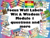 Focus Wall Labels and Elements for Module 1 Grade 1 Wit and Wisdom