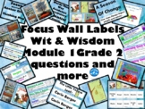Focus Wall Labels and Elements for Wit & Wisdom Module 1 Grade 2