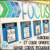 Focus Wall - Learning Targets for Classroom Goals & Objectives
