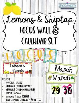 Focus Wall: Lemons and Shiplap
