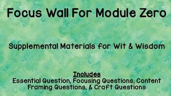 Focus Wall Module Zero (Wit &Wisdom)