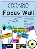 Focus Wall (Non-Grade Specific)
