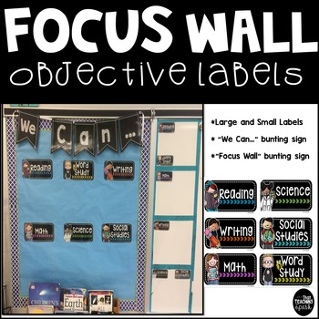 Focus Wall Objective Learning Goal Board