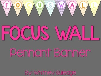 Focus Wall Pennant Banner